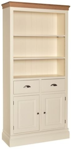 Devonshire Lundy Painted Bookcase - 6ft Tall with Cupboard