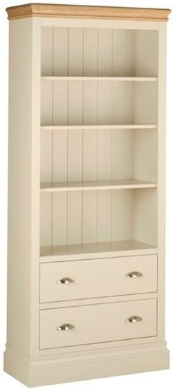Devonshire Lundy Pine Bookcase - 6ft with 2 Drawer