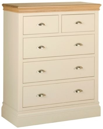 Devonshire Lundy Pine Chest of Drawer - Small 3+2 Drawer