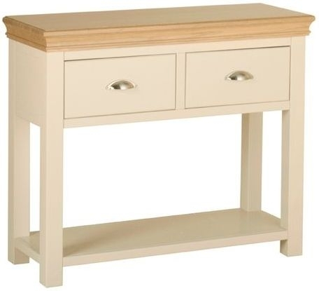 Devonshire Lundy Pine Console Table - 2 Drawer