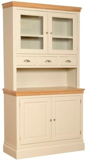 Devonshire Lundy Pine Glass Top Dresser - 2 Door with Spice Drawers