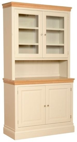 Devonshire Lundy Pine Glass Top Dresser - 2 Door