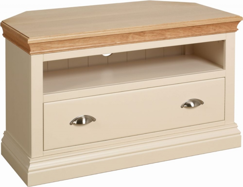 Devonshire Lundy Ivory Painted Corner TV Unit
