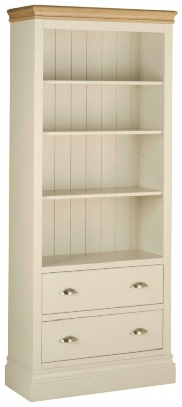 Lundy Painted Tall Bookcase with Drawer