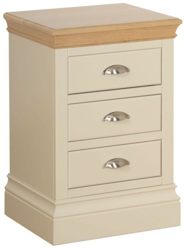 Devonshire Lundy Ivory Painted Large Bedside Cabinet