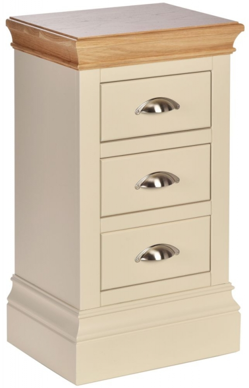 Devonshire Lundy Ivory Painted Medium Bedside Cabinet