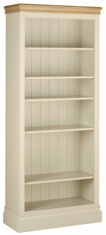 Devonshire Lundy Ivory Painted 6ft Bookcase