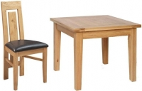 Devonshire New Oak Square Dining Set with 4 Verona Chairs - 91.5cm