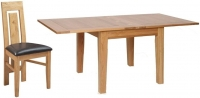 Devonshire New Oak Square Extending Dining Set with 4 Verona Chairs - 91.5cm-183cm