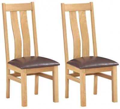 Devonshire New Oak Arizona Dining Chair (Pair)