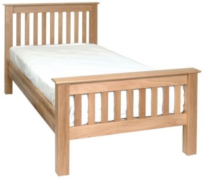 Devonshire New Oak Bed - High Foot End