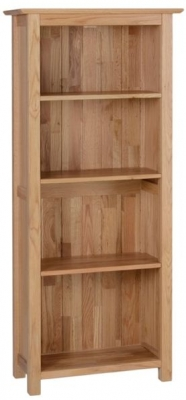 New Oak Narrow Bookcase