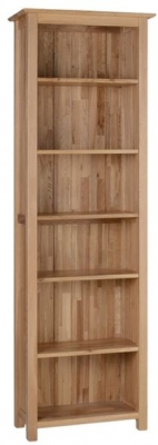 Devonshire New Oak Tall Narrow Bookcase