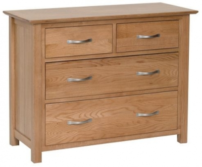New Oak 2 + 2 Drawer Chest