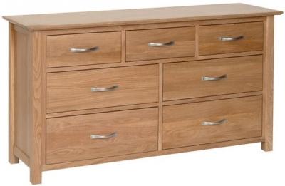 Devonshire New Oak Chest of Drawer - 3+4 Drawer
