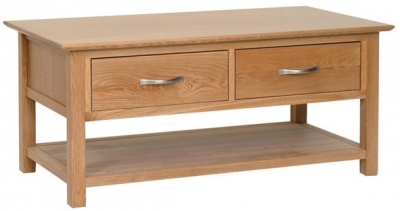 New Oak Storage Coffee Table