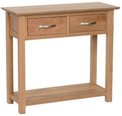 Devonshire New Oak Console Table - 2 Drawer