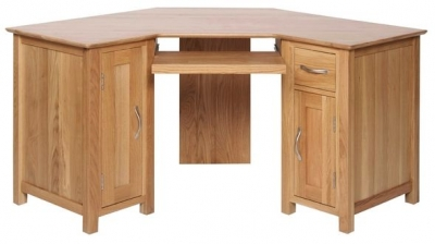 Devonshire New Oak Desk - Corner