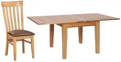 Devonshire New Oak Dining Set - Extending Table with 4 Toulouse Chairs