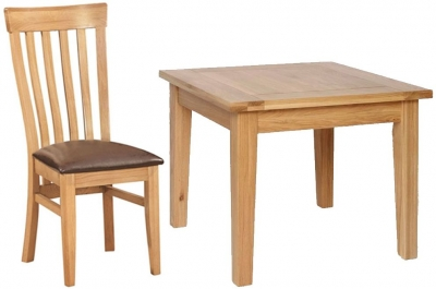 Devonshire New Oak Dining Set - Small Table with 4 Toulouse Chairs