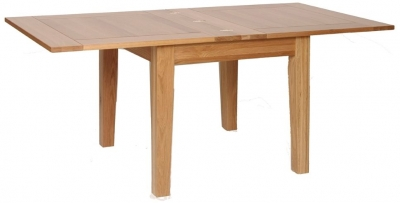 New Oak Flip Top Extending Dining Table