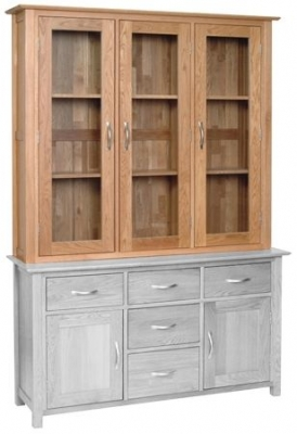Devonshire New Oak Glass Dresser Top - Large