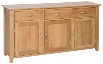 New Oak 3 Door Large Sideboard