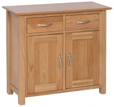 New Oak 2 Door Small Sideboard