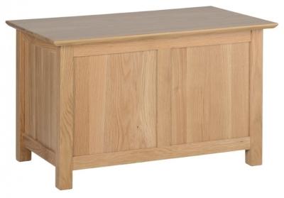 Devonshire New Oak Blanket Box - Small