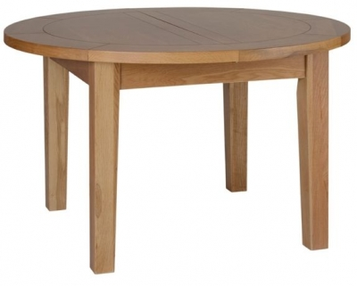 Devonshire New Oak Table - Round D End Extending