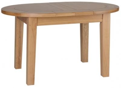 Devonshire New Oak Table - Small D End Extending