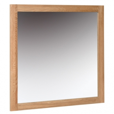 Devonshire New Oak Square Wall Mirror - 90cm x 90cm