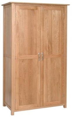 New Oak 2 Door Ladies Wardrobe
