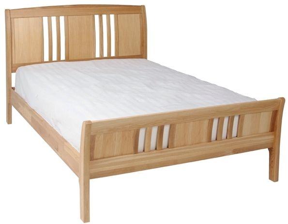 Devonshire New Oak 6ft Super King Size Sleigh Bed