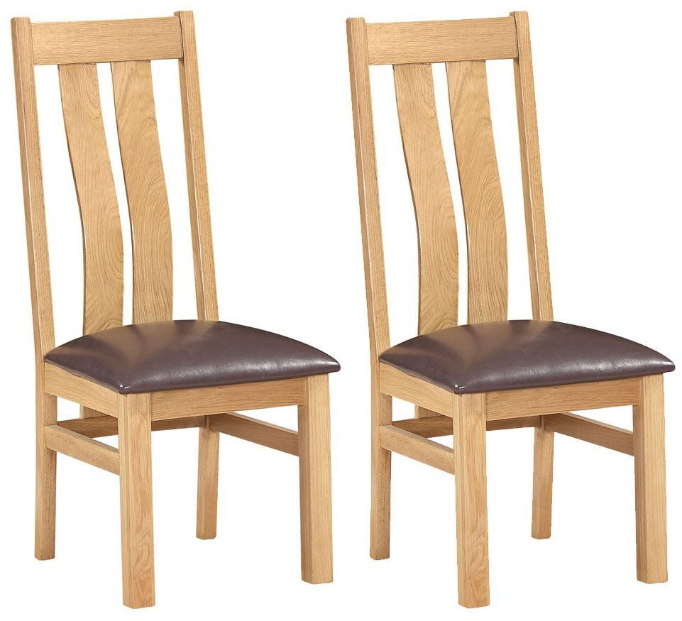 Devonshire New Oak Arizona Dining Chair (Pair)