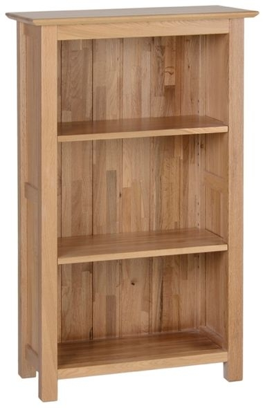 Devonshire New Oak Bookcase - Small Narrow