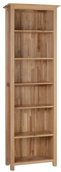 Devonshire New Oak Bookcase - Tall Narrow