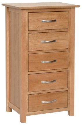 Devonshire New Oak 5 Drawer Wellington Chest