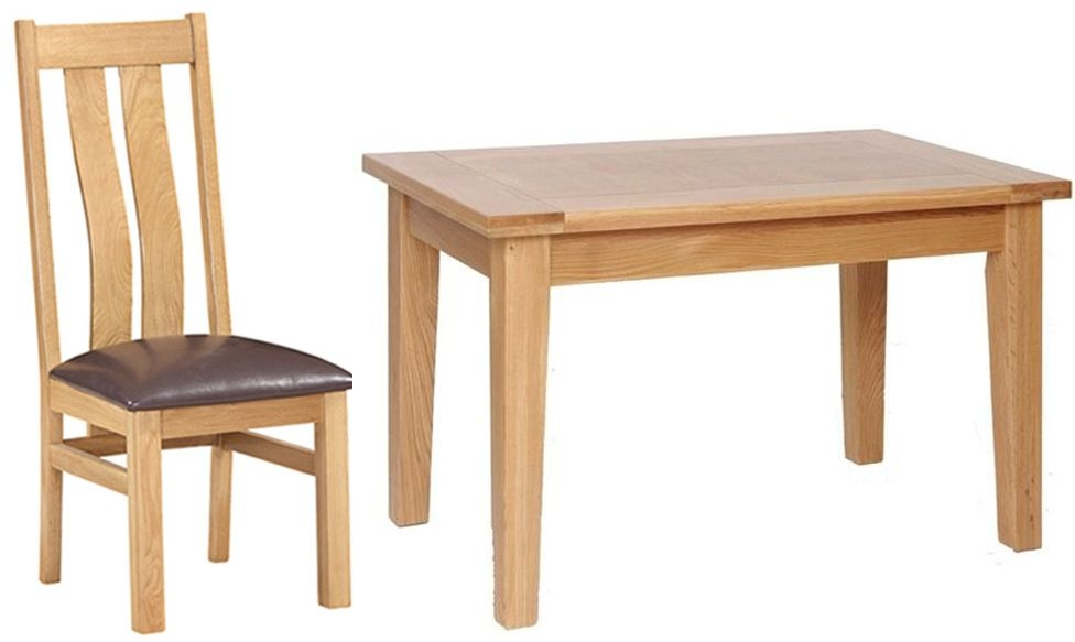 Devonshire New Oak Dining Set - Large Table with 4 Arizona Chairs