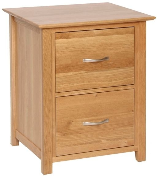 Devonshire New Oak Filing Cabinet - 2 Drawer