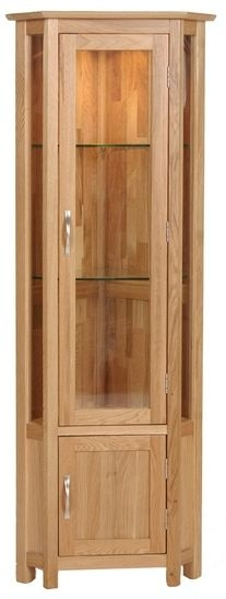 Devonshire New Oak Glass Display Cabinet - Corner