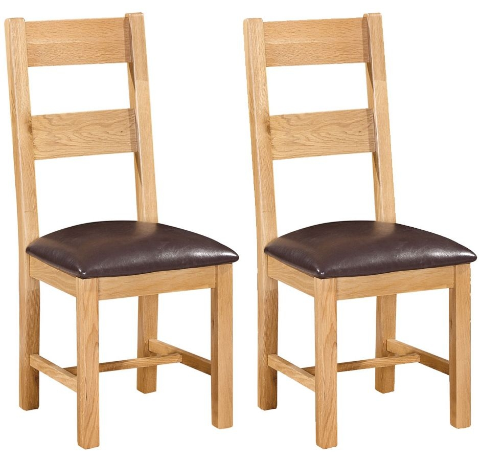 Devonshire New Oak Dining Chair- Ladder Back (Pair)