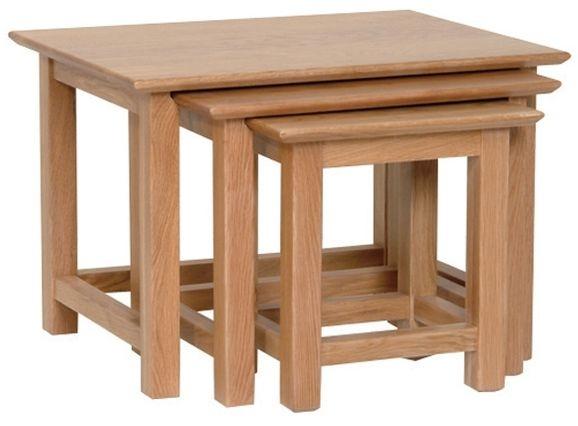 Devonshire New Oak Nest of Tables - Large