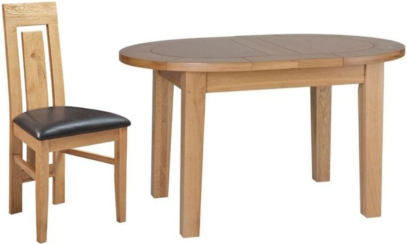 Devonshire New Oak D End Extending Dining Table and 4 Verona Chairs