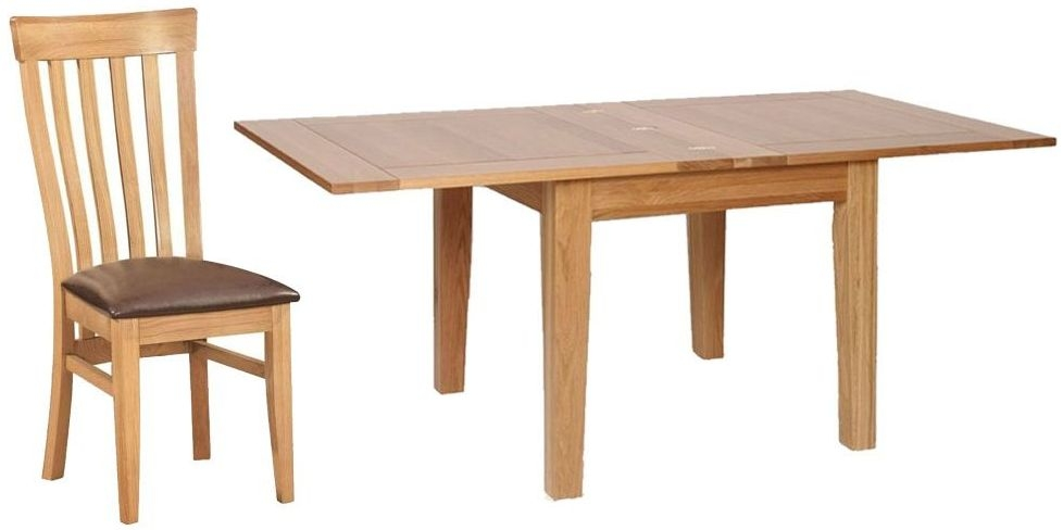 Devonshire New Oak Square Extending Dining Set with 4 Toulouse Chairs - 91.5cm-183cm