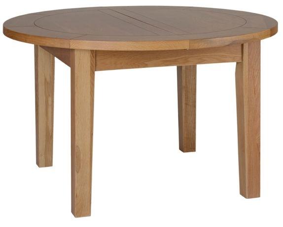 Devonshire New Oak Table - Round D End Extending