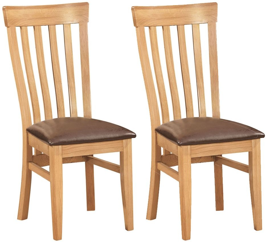 Devonshire New Oak Toulouse Dining Chair (Pair)
