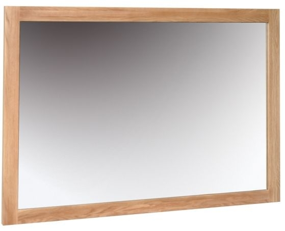 Devonshire New Oak Rectangular Wall Mirror - 130cm x 90cm