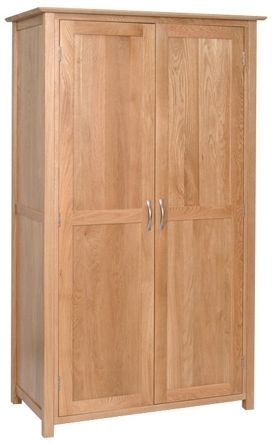 Devonshire New Oak 2 Door Double Wardrobe