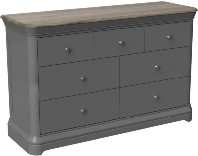 Pebble Slate Grey Painted 3 Over 4 Drawer Combi Chest